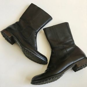 Calvin Klein Terra Pebbled Leather Boots Size 6